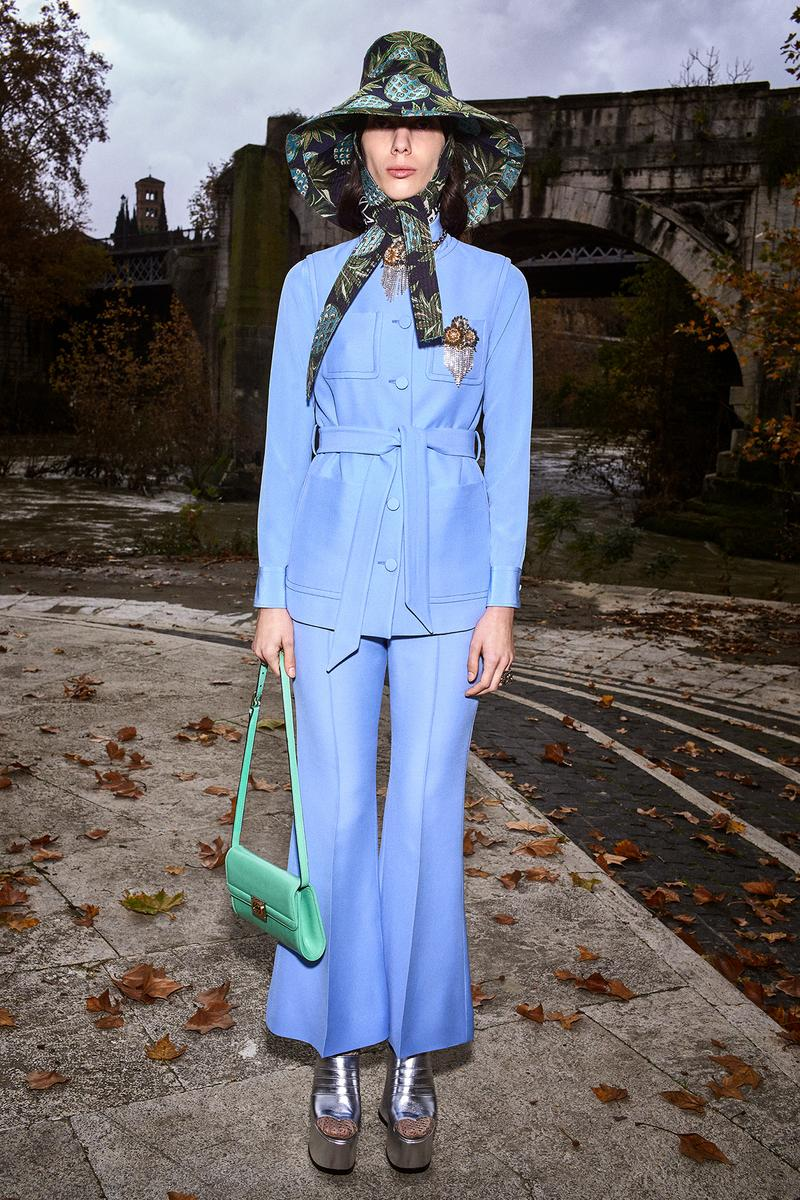 Gucci Pre-Fall 2020 Collection Lookbook Suit Blue