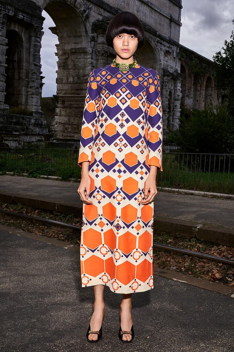 Gucci Pre-Fall 2020 Collection Lookbook '70s Maxi Dress
