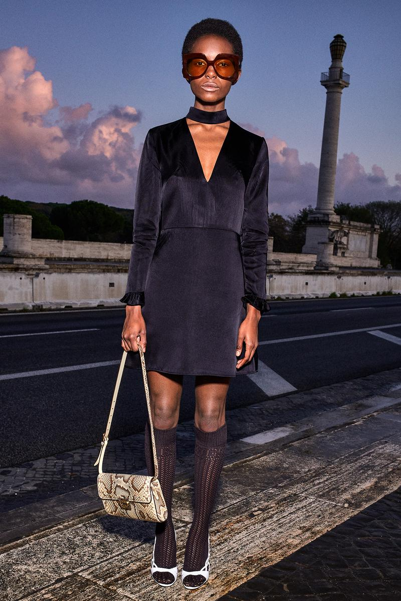 Gucci Pre-Fall 2020 Collection Lookbook V Neck Minidress Dress Black