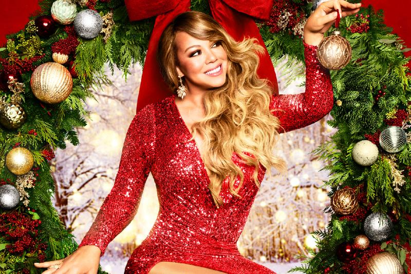 mariah carey All I Want For Christmas Is You christmas holiday red v neck dress decorations bow artist musician performer