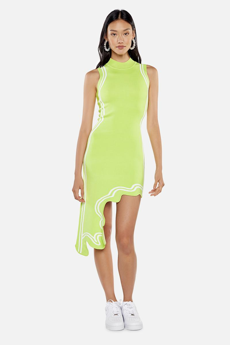 kith women ph5 collaboration dress neon green yellow fashion clothes