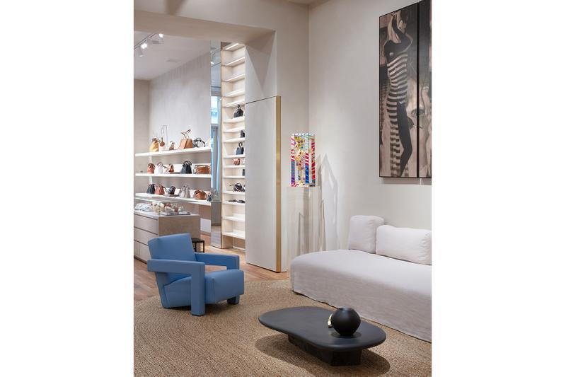 loewe standalone store soho newyork opening art paintings sculptures photographs designer bags clothes
