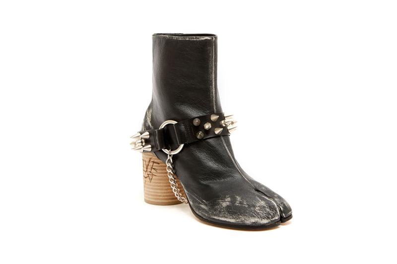 Maison Margiela Tabi Boot Studded Studs Motorcycle Chain