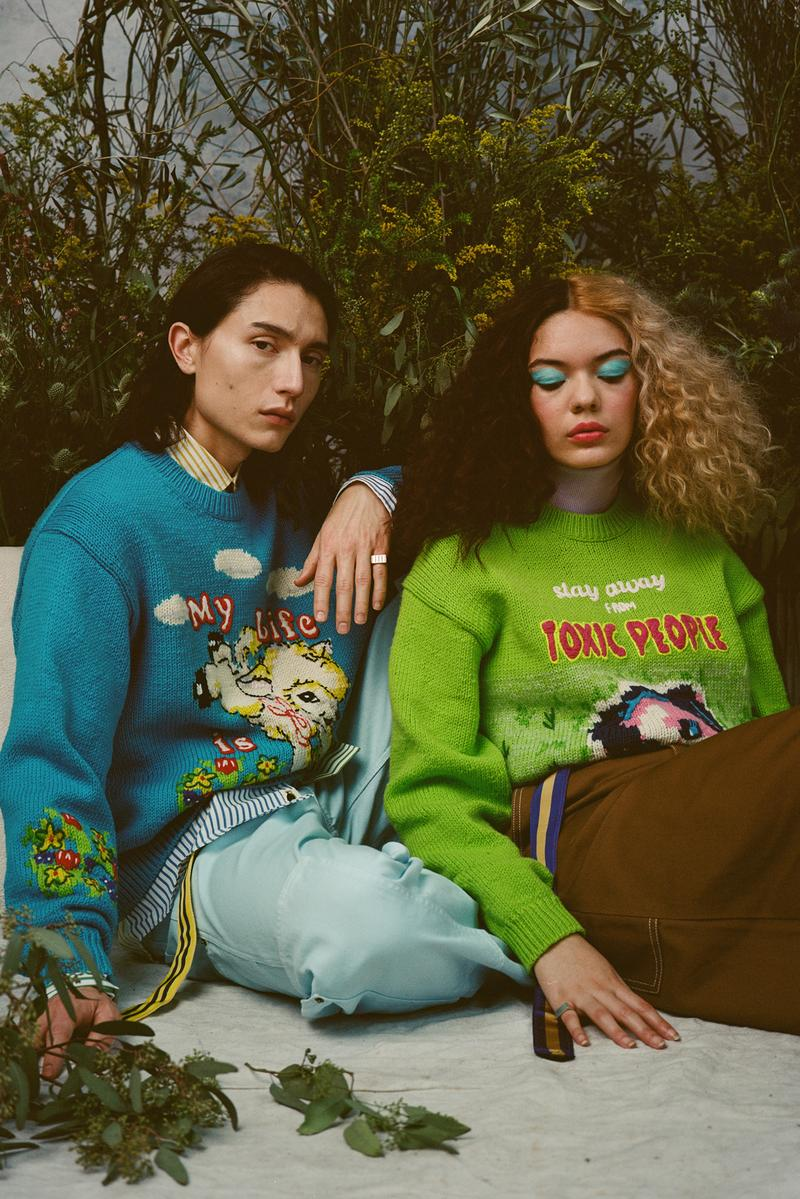 Magda Archer x Marc Jacobs Collection Lookbook british artist illustration I hate art sweatshirt crew neck sweater collabroation t-shirts