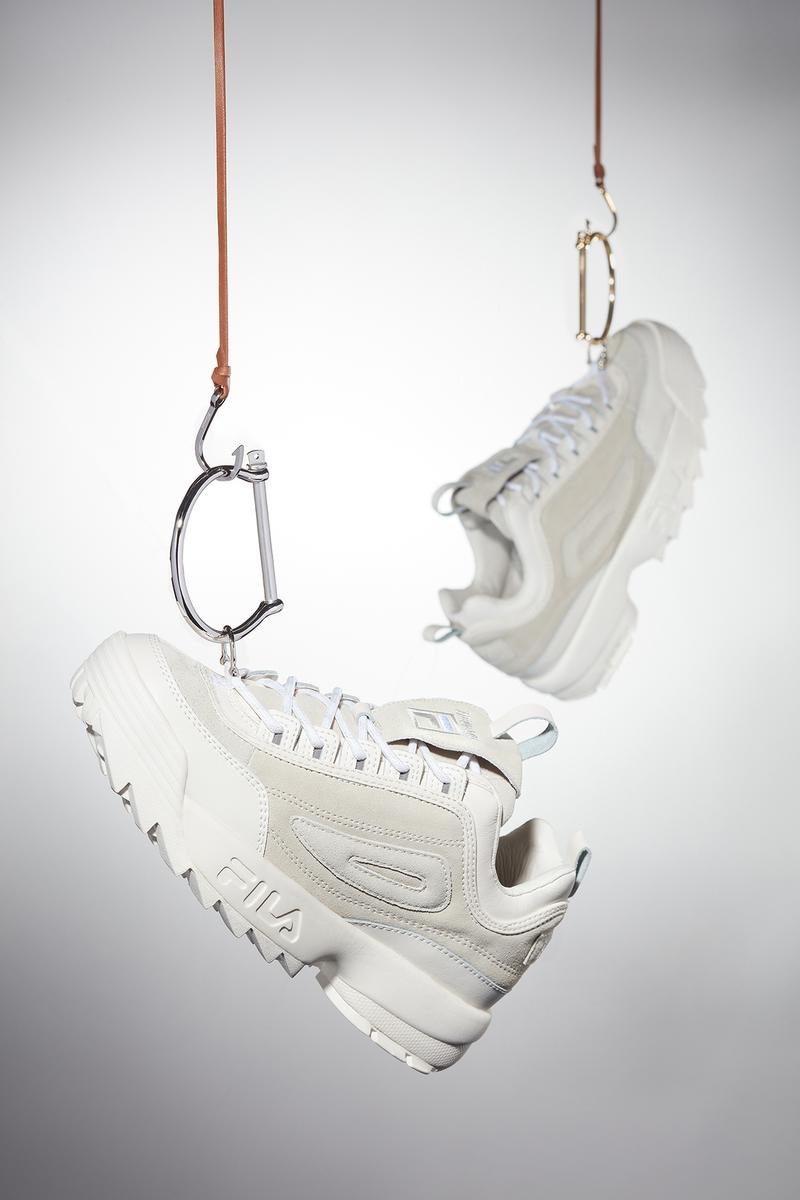 Miansai x FILA Sneaker Collection Disruptor Gardenia