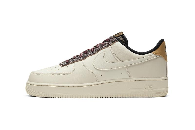 nike air force 1 07 sneakers brown tan beige fossil shoes footwear sneakerhead