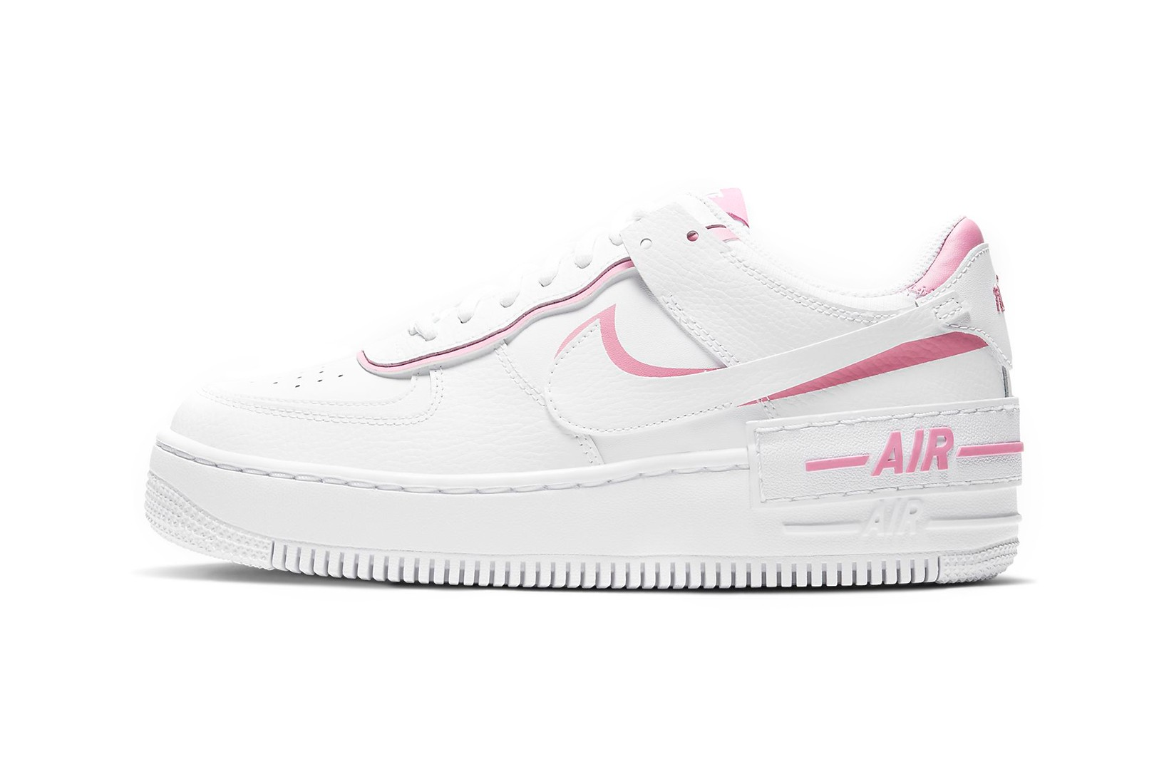 nike air force 1 white and pink