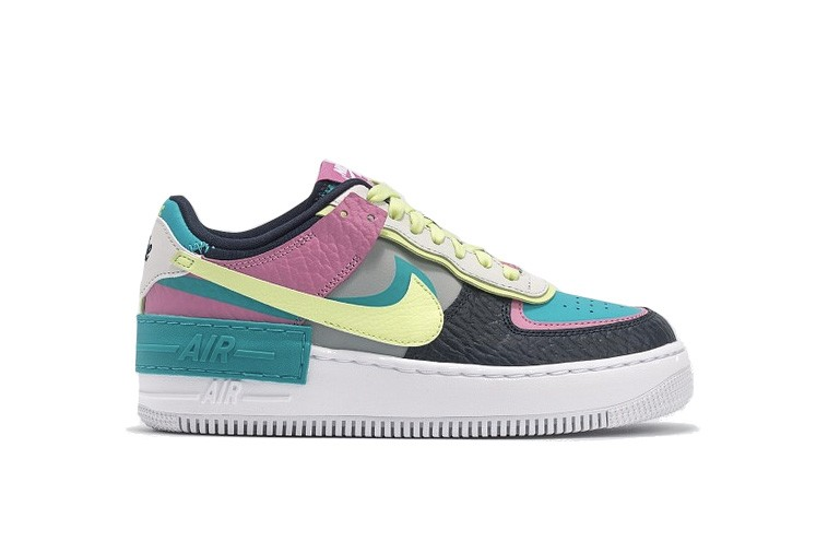 Nike Air Force 1 Shadow Pink Yellow Teal Sneaker Hypebae Nike women's air force 1 shadow casual shoes. nike air force 1 shadow pink yellow