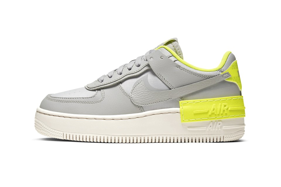 Nike's Air Force 1 Shadow Arrives with an Electric Pop of Neon Yellow