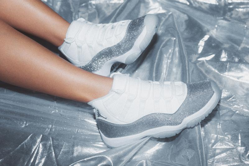 Nike Air Jordan 11 Retro Metallic Silver Glitter Sparkly