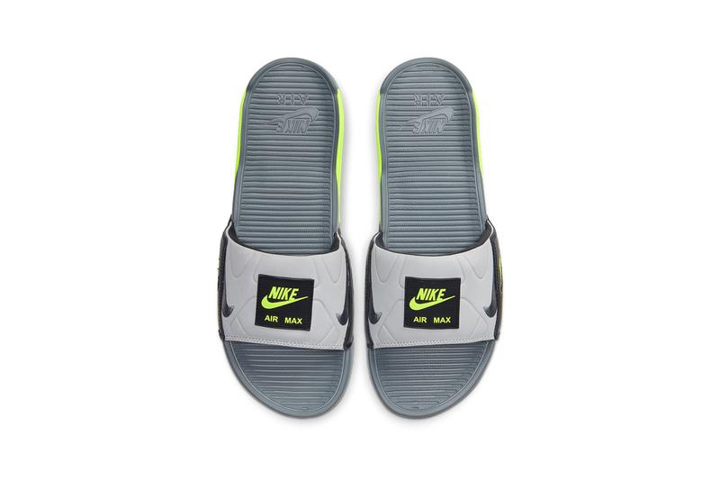 Nike Air Max 90 Slide Smoke Grey/Volt/Black/Smoke Grey