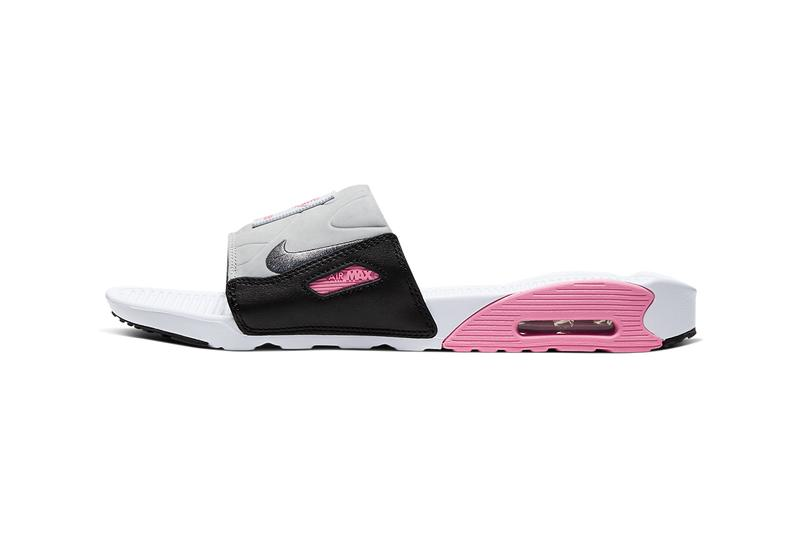 Nike Air Max 90 Slide White/Rose/Light Smoke Grey/Smoke Grey