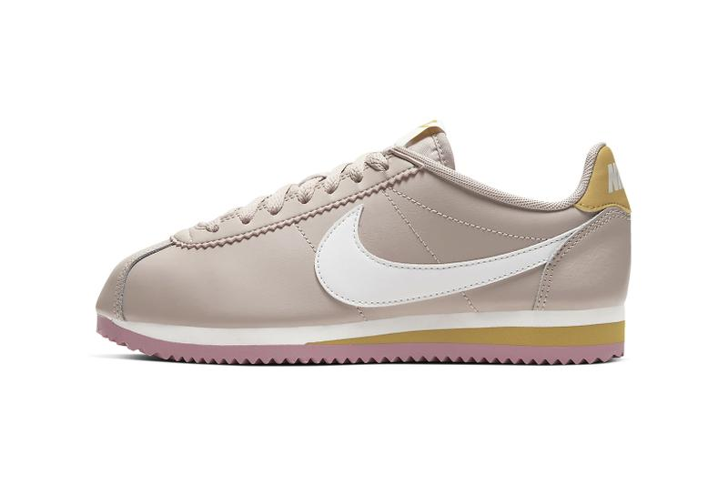 nike classic cortez womens sneakers muted pink white shoes footwear sneakerhead