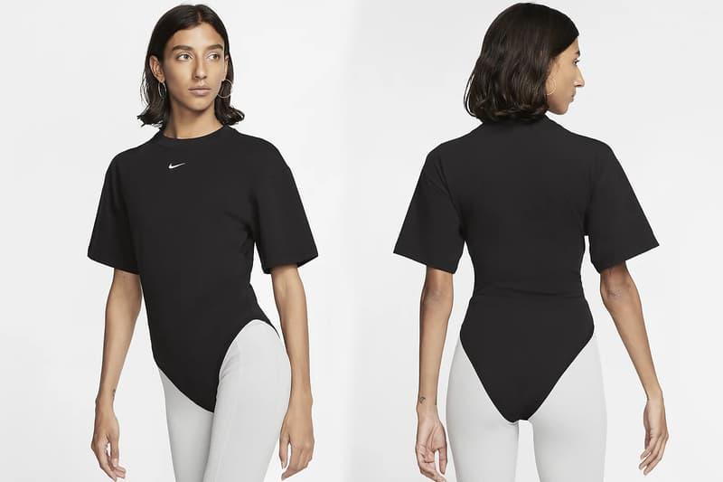 Nike Swoosh Logo T-Shirt Bodysuit Black/Grey