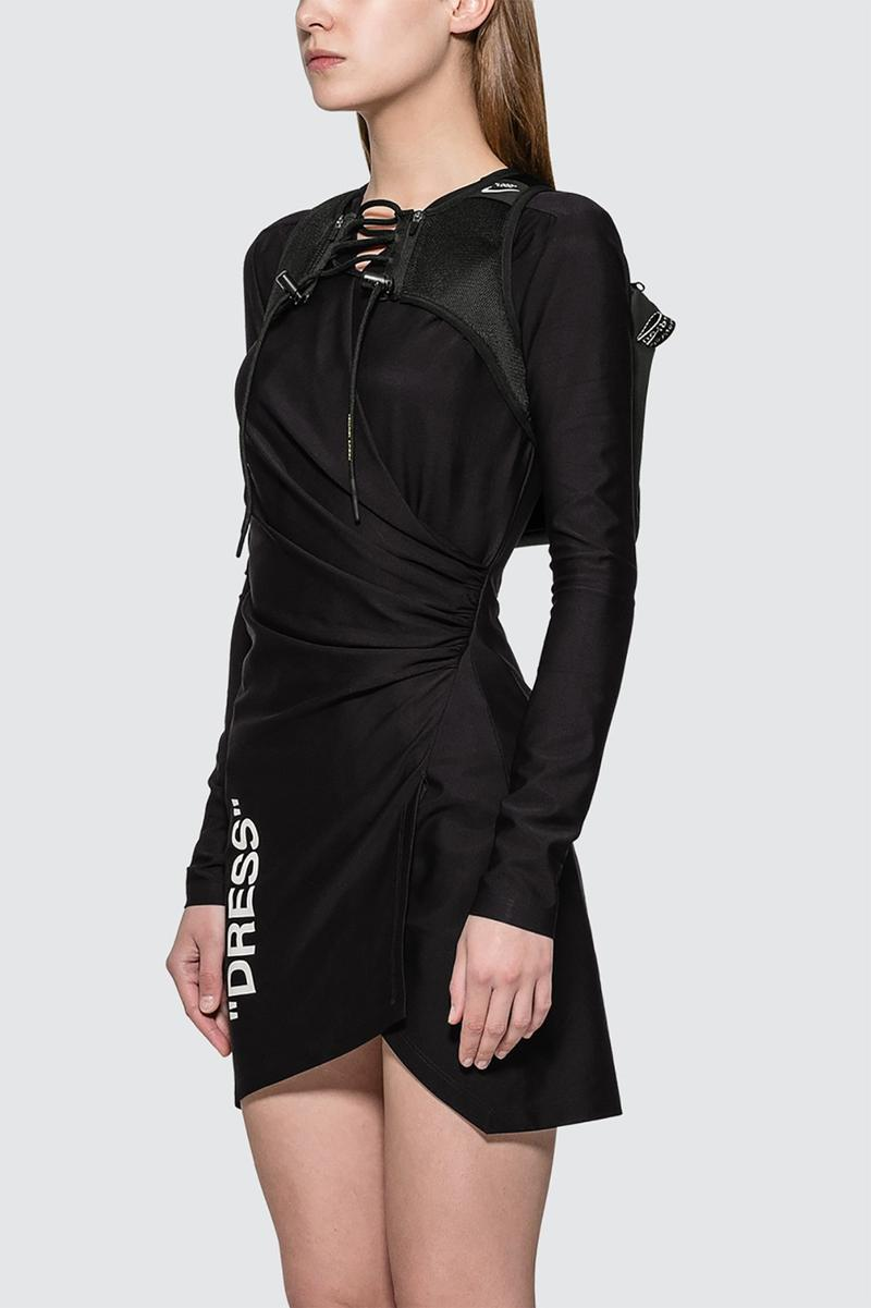 nike off white virgil abloh womens utility vest black dress