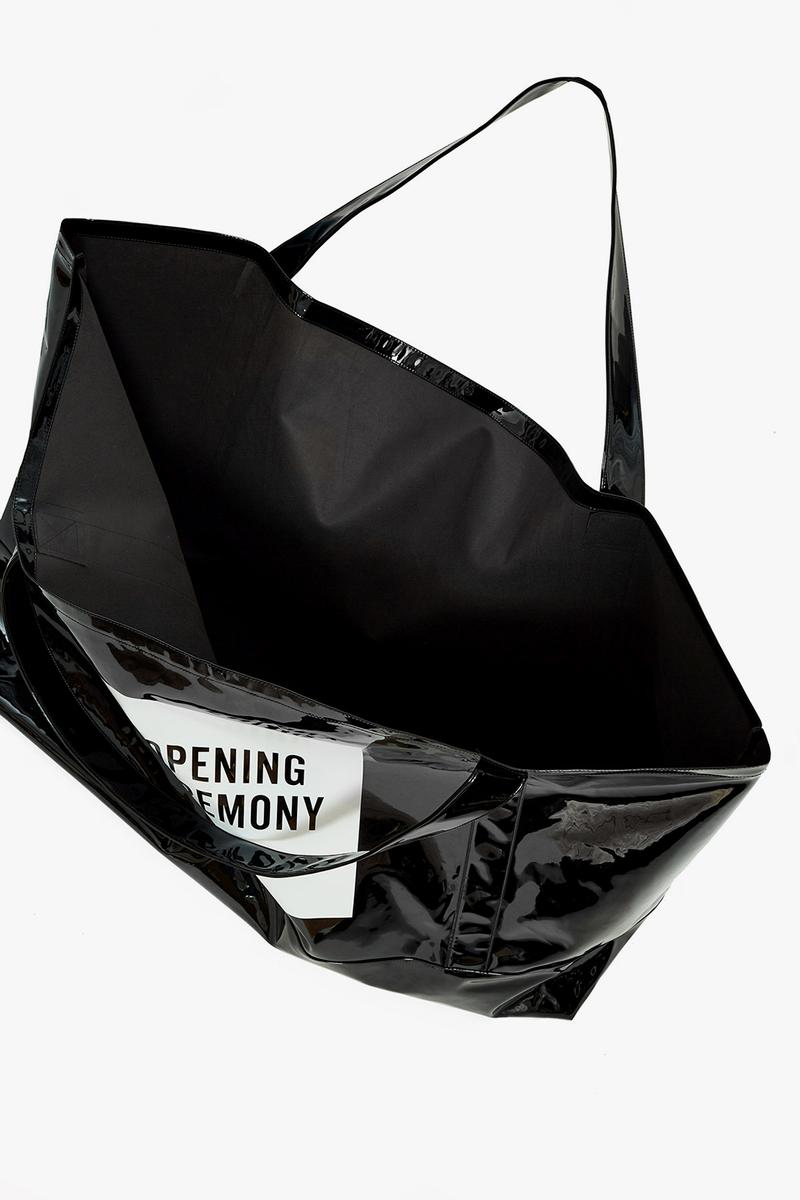 opening ceremony super large tote bag black yellow oversized