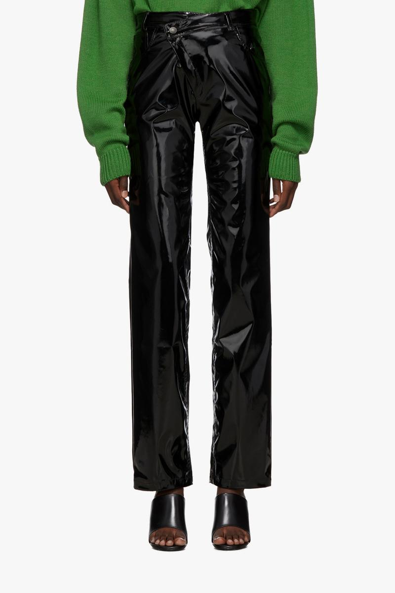 Ottolinger Pleather Diagonal Trousers Black