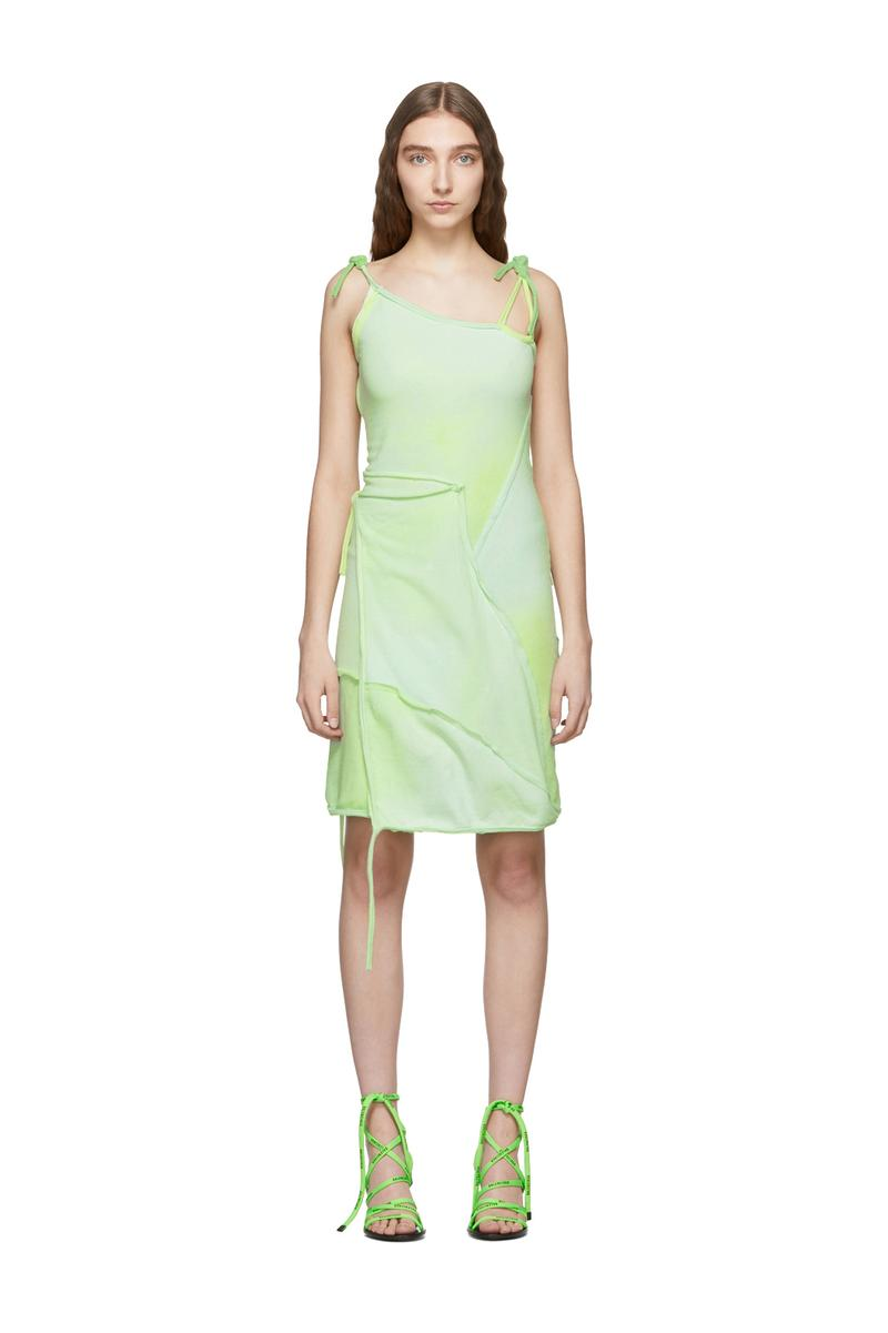 Ottolinger Asymmetric Strap Dress Green