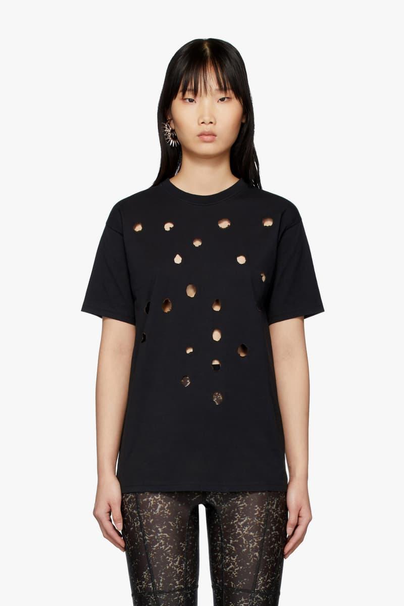 Ottolinger Black Burned T-Shirt SSENSE Exclusive