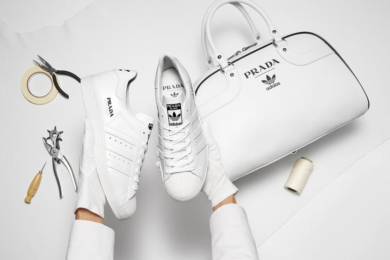 Prada adidas Originals Collaboration Sneaker Superstar Bag White Black Luxury Designer Sports Brand