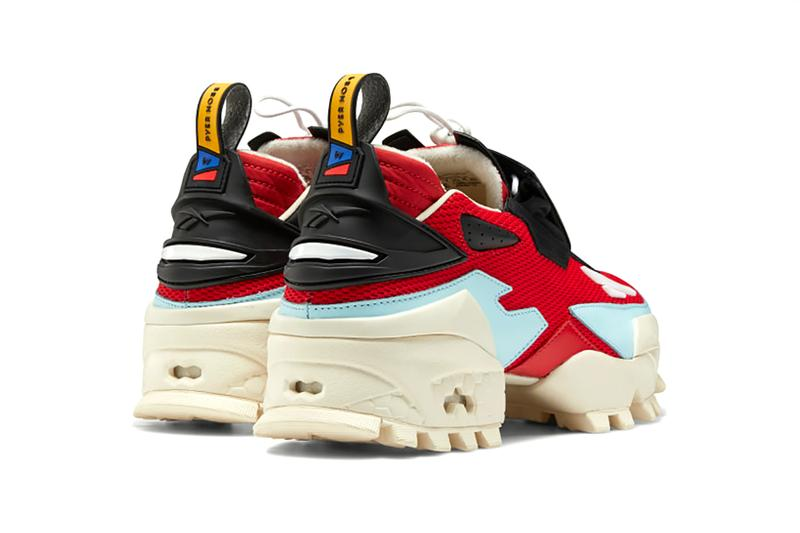 reebok pyer moss experiment 4 fury trail glory sneakers red off white pastel blue shoes footwear sneakerhead