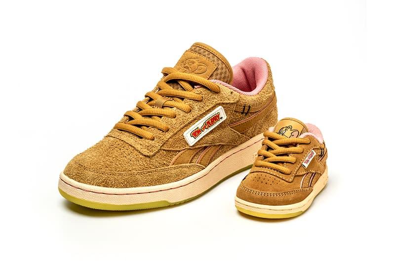 reebok tom and jerry warner bros collaboration instapump club c sneakers brown grey footwear sneakerhead