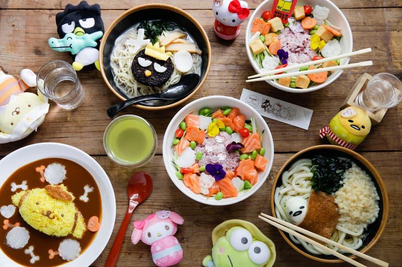 Sanrio Cafe Tombo London Bad Badtz Maru Ramen Pom Pom Purin Curry