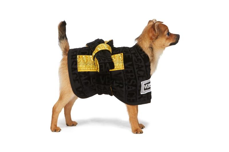 SSENSE Dog Clothing Versace Bath Robe Barocco
