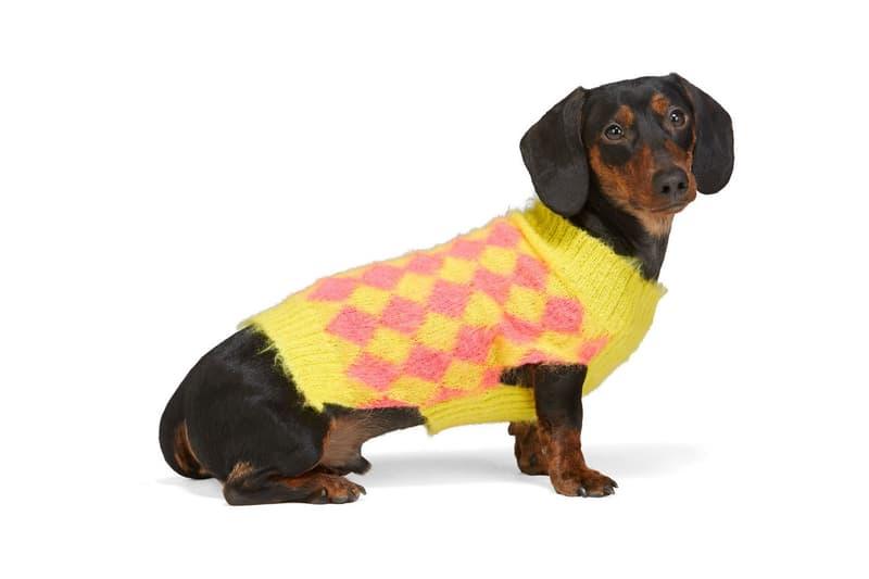 SSENSE Dog Clothing Ashley Williams Sweater Pink Yellow
