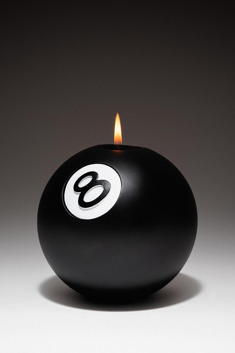 stussy 8 ball unscented candle homeware