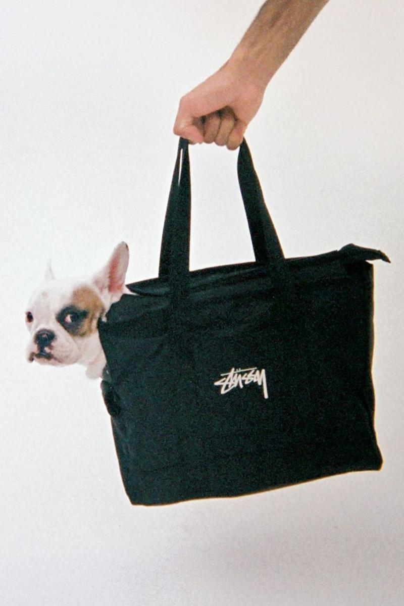Stussy Stock Dog Tote Bag Black Pet