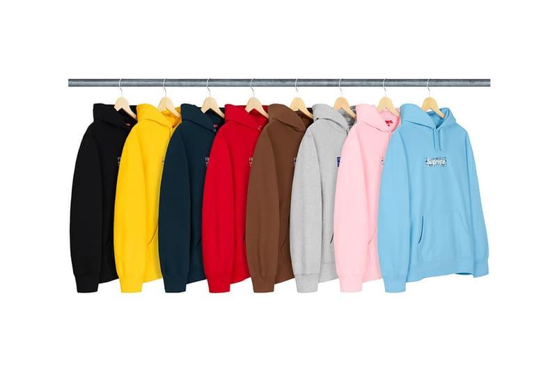 supreme bandana box logo hoodie fall winter black yellow navy light blue red brown grey pink