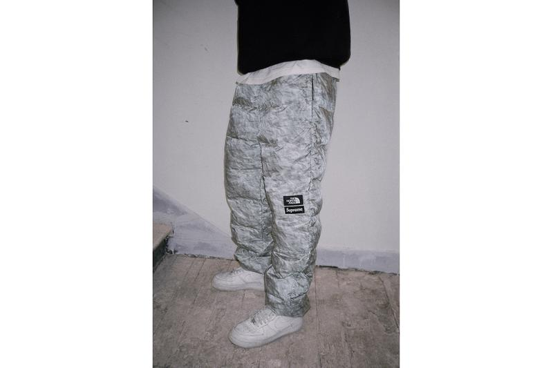 supreme the north face collaboration winter jacket pants scarf