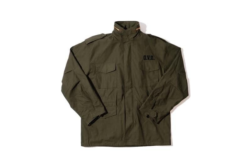Takashi Murakami x OVO Collection T-Shirt Black Army Jacket Green