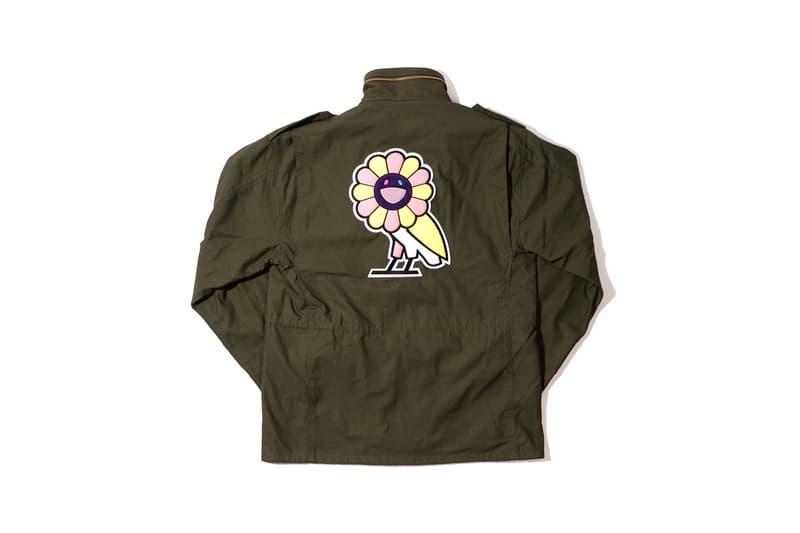 Takashi Murakami x OVO Collection Army Jacket Green