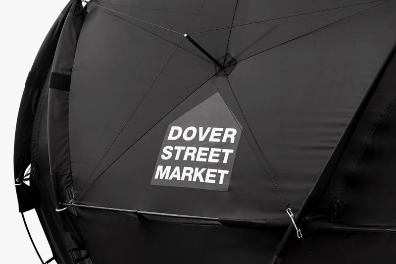 the north face dover street market london geodome tents denali jacket black