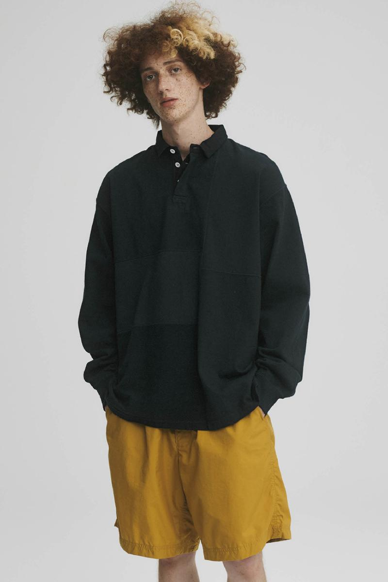 THE NORTH FACE PURPLE LABEL Spring Summer 2020 Collection Lookbook Henley Black Shorts Mustard