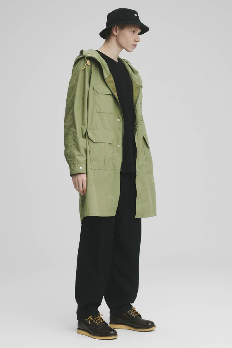 THE NORTH FACE PURPLE LABEL Spring Summer 2020 Collection Lookbook Coat Green Bucket Hat Black