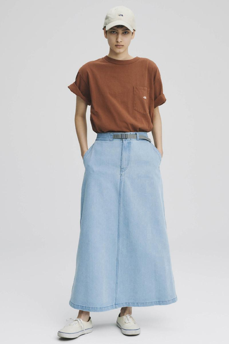 THE NORTH FACE PURPLE LABEL Spring Summer 2020 Collection Lookbook Maxi Skirt Denim