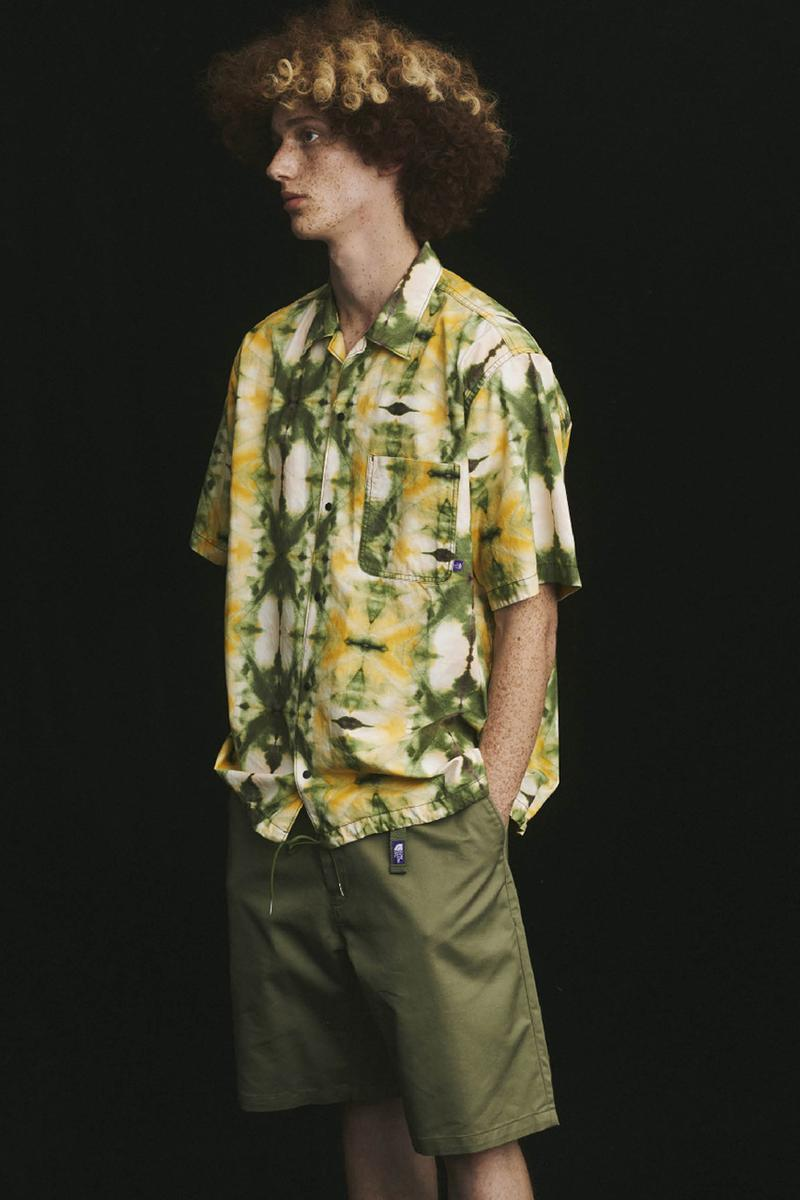 THE NORTH FACE PURPLE LABEL Spring Summer 2020 Collection Lookbook Short Sleeve Shirt Tie Dye