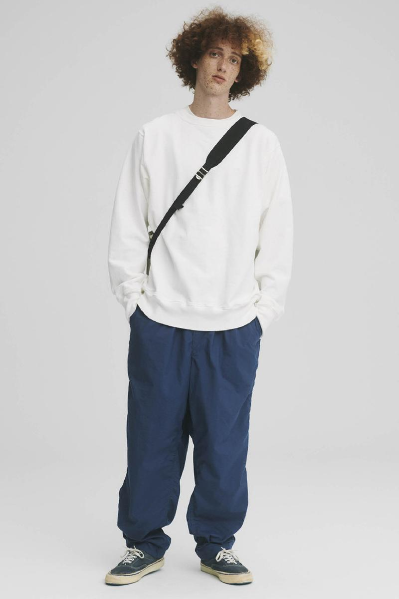 THE NORTH FACE PURPLE LABEL Spring Summer 2020 Collection Lookbook Pullover White Pants Navy