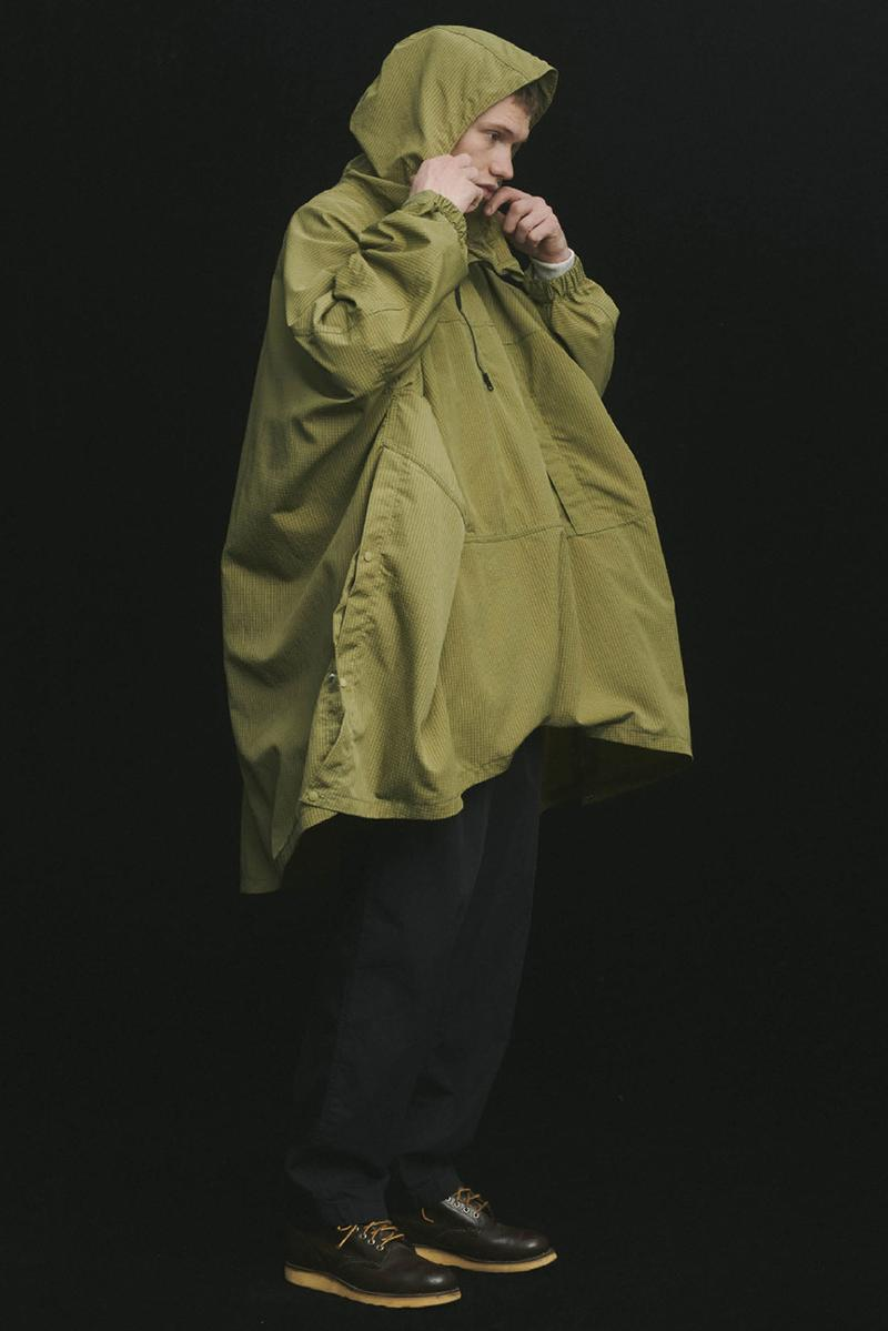 THE NORTH FACE PURPLE LABEL Spring Summer 2020 Collection Lookbook Poncho Green