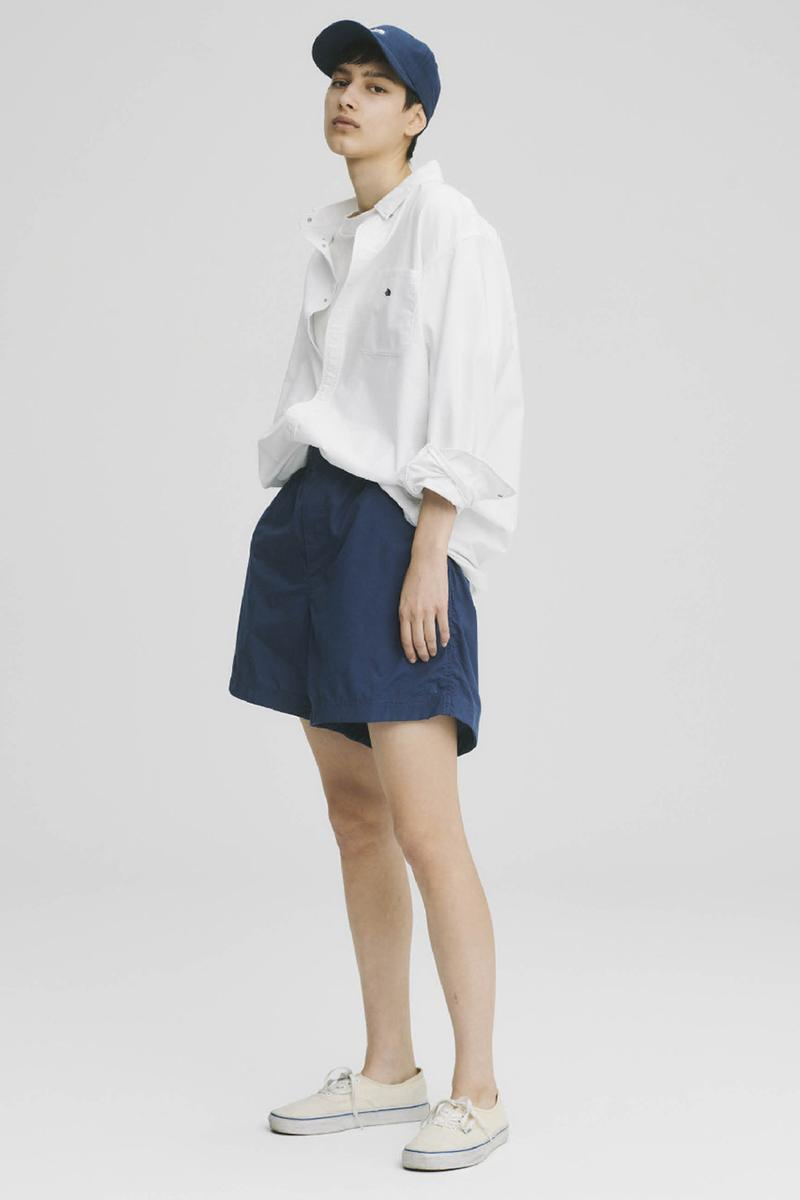 THE NORTH FACE PURPLE LABEL Spring Summer 2020 Collection Lookbook Shorts Navy Shirt White