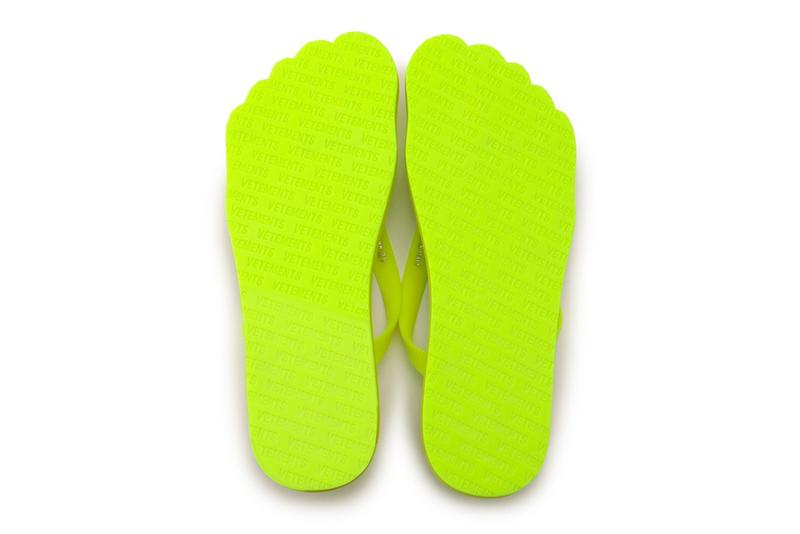 Vetements Neon Toe-Shaped Flip-Flop Sandals Foot Thong Shoe