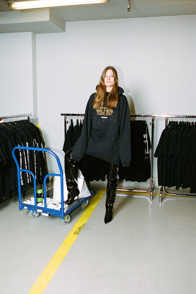 vetements star wars rise of the skywalker collaboration hoodies dresses backpacks