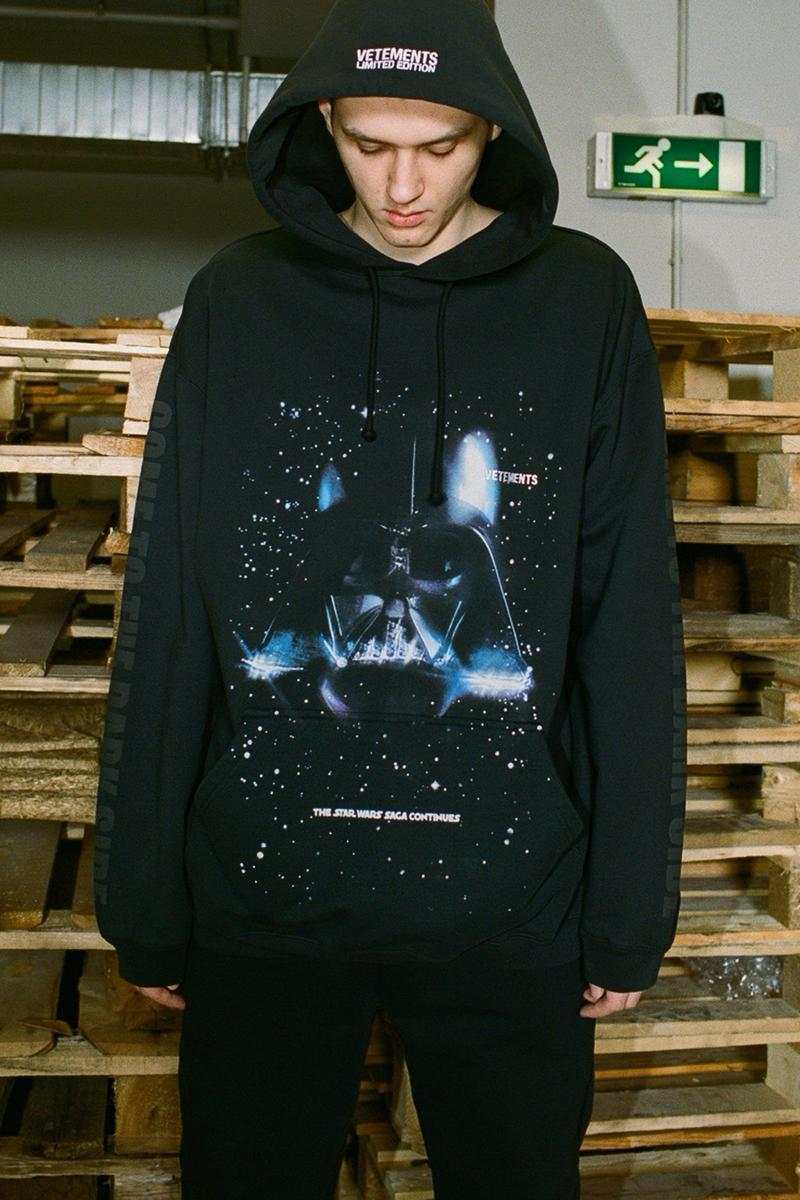 vetements star wars rise of the skywalker collaboration hoodies dresses backpacks