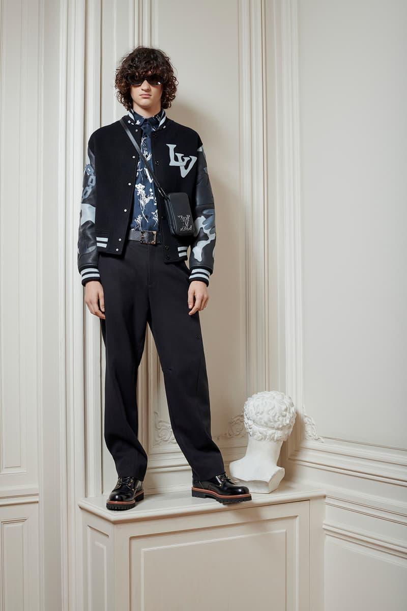 Virgil Abloh Louis Vuitton Pre-Fall 2020 Collection Lookbook LV Logo Varsity Jacket