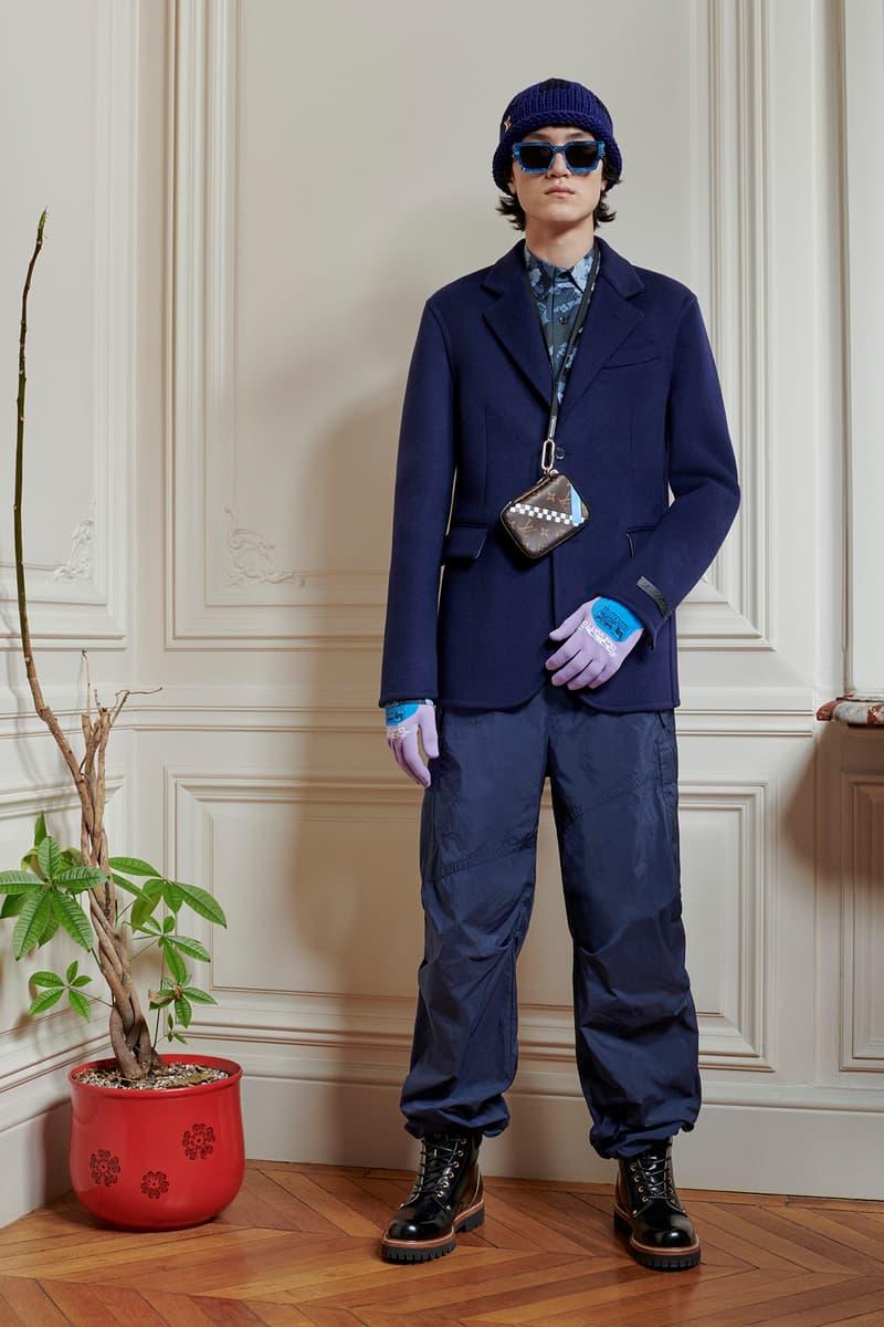 Virgil Abloh Louis Vuitton Pre-Fall 2020 Collection Lookbook Blazer Navy Blue