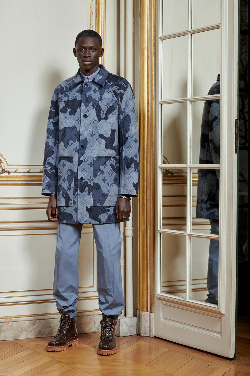 Virgil Abloh Louis Vuitton Pre-Fall 2020 Collection Lookbook Camo Monogram Coat