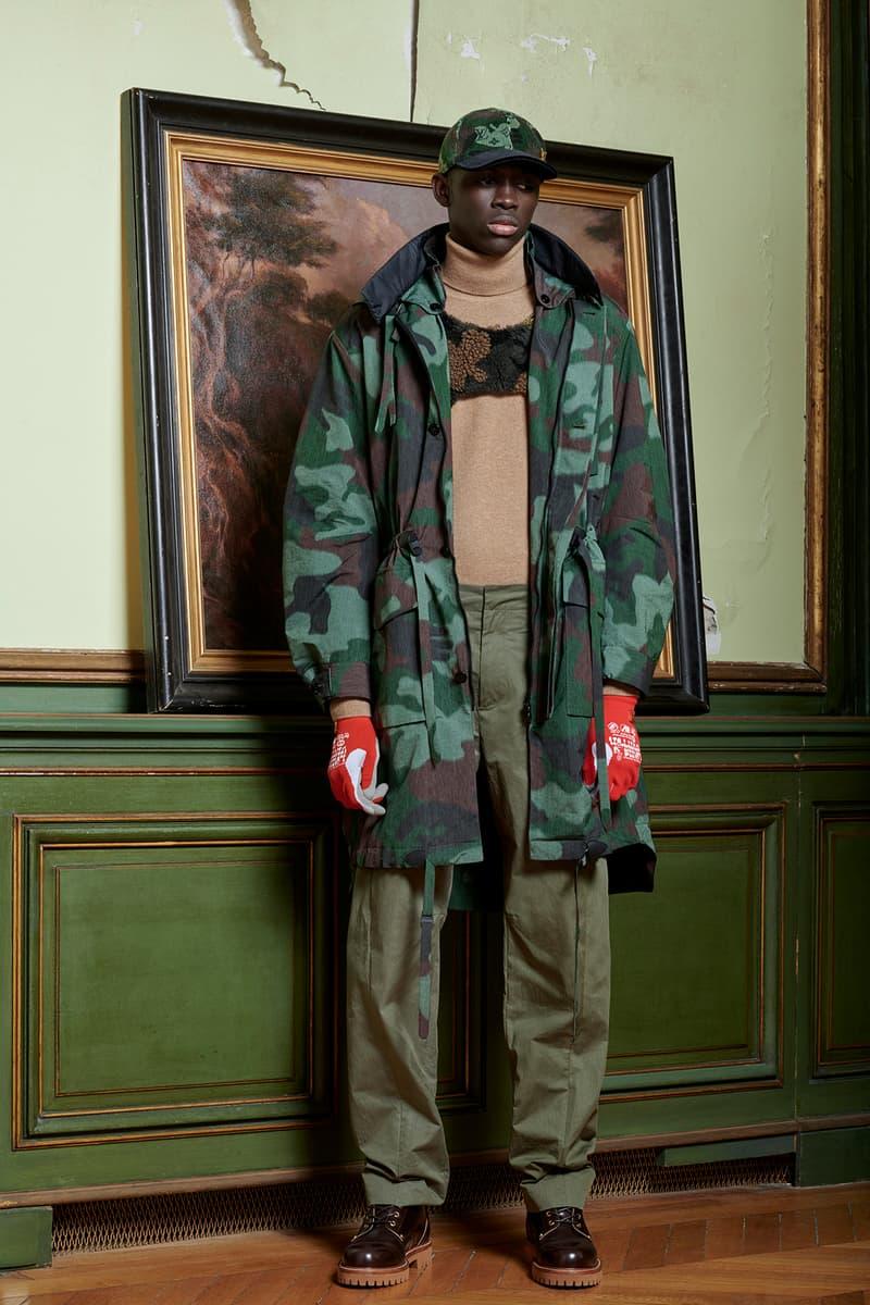 Virgil Abloh Louis Vuitton Pre-Fall 2020 Collection Lookbook Camo Coat